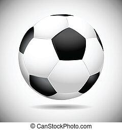 Black and white soccer ball vector illustration