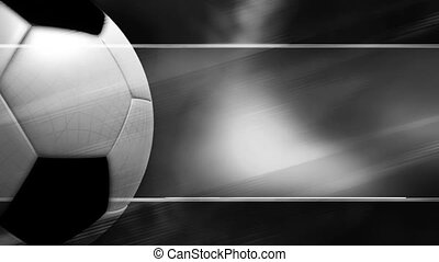 Black and White Soccer looping Background