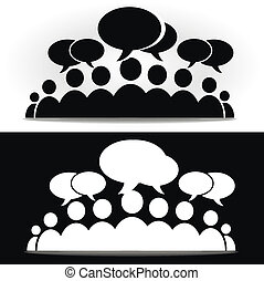 social community - Black and white social community forum