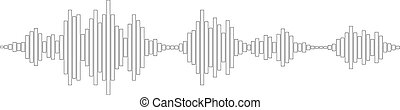black and white sound waves