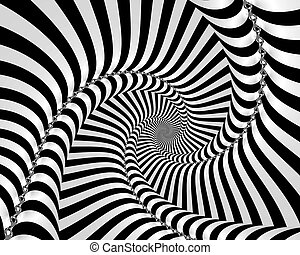 Incredible black and white fractal spiral.
