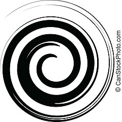 Black and white spiral vector - Vector image of a black and...