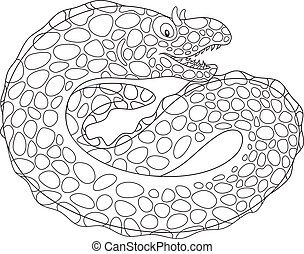 Black and white spotted moray - Black and white vector...