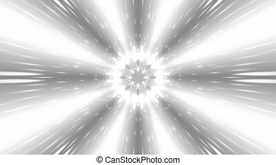 Black and white star burst of particles seamless loop -...