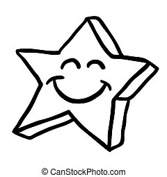 black and white star