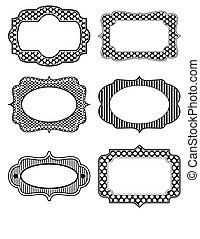 Black and white stencil icon set