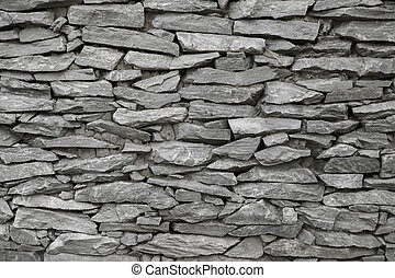 black and white stone wall