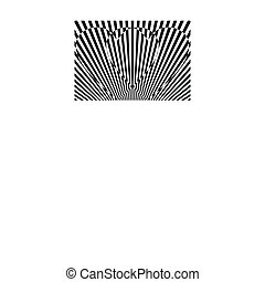 Black and white striped hearts, vector, valentine