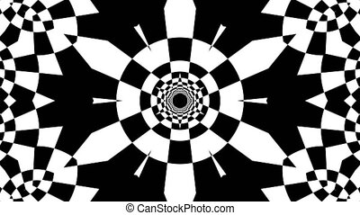 Black and white stripes. Computer generated abstract background, 3D rendering backdrop