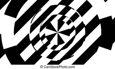 Black and white stripes. Computer generated abstract...