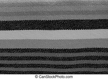 Black and White Stripes Fabric Pattern Background