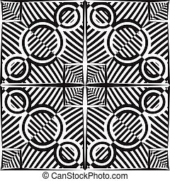 black and white stripy pattern