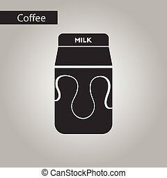 black and white style coffee carton milk