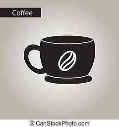 black and white style coffee cup