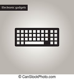black and white style icon of computer keyboard