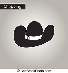 black and white style icon Cowboy hat