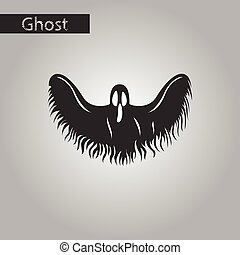 black and white style icon of ghost