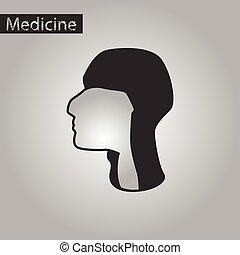 black and white style icon of pharynx