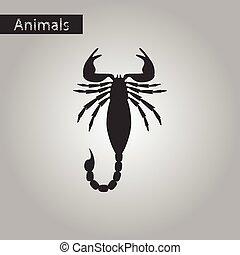 black and white style icon of Scorpio