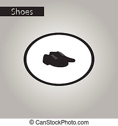 black and white style icon Pair of men's shoes