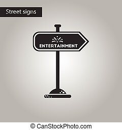 black and white style icon sign entertainment