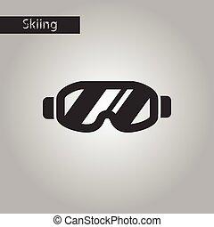 black and white style icon Ski goggles