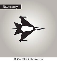 black and white style icon war plane