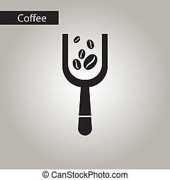 black and white style Scoop coffee