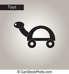 black and white style toy turtle