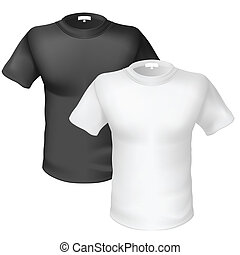 Black and white T-shirt Front View