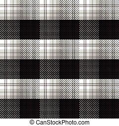 Black and White tartan plaid background