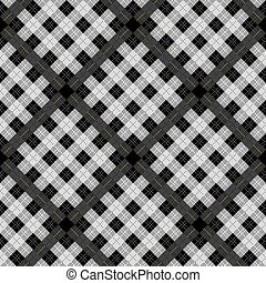 Black and white tartan plaid pattern on checkered background for textile eps10
