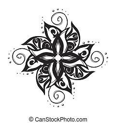 Black and white tattoo pattern