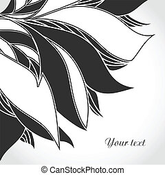 Black and white tattoo pattern.