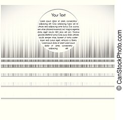 Black and white template, vector