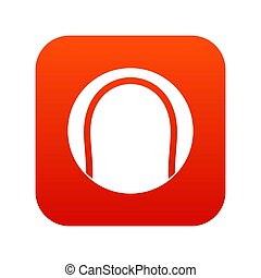 Black and white tennis ball icon digital red