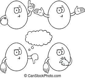 Black and white thinking egg set