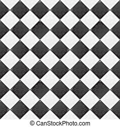 Black and white tile - Black And White tile with retro...