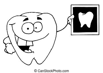 Black And White Tooth