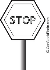 black and white traffic sign