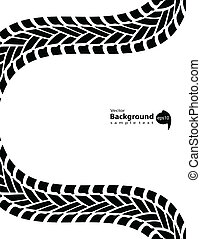 Black and white transportation background, vector...