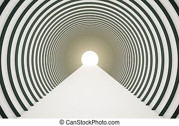 Black and white tunnel - Abstract black and white tunnel...