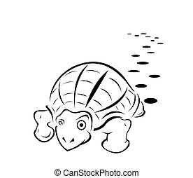 black-and-white turtle tattoo color