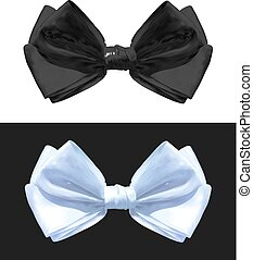 Black and white VECTOR bows