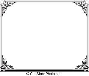 vector frame - black and white vector frame
