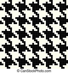 Black and White Vector Houndstooth Texture - Trendy...