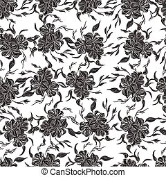 Black and white vector seamless pattern