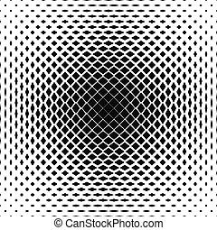 Black and white vector square pattern design