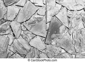 Black and white view of Stone granite wall texture background