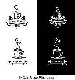 Black And White Vintage Coffee Logo